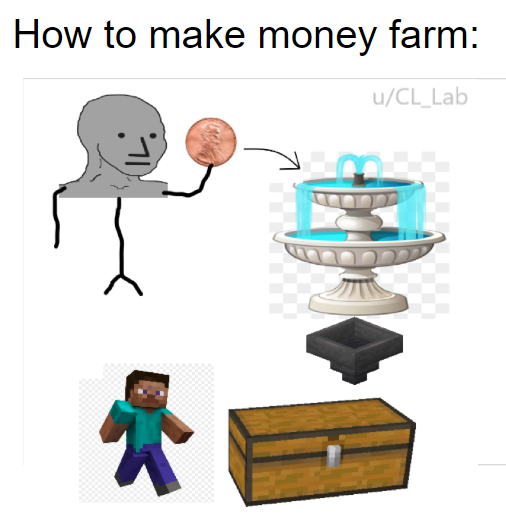 Check Out Illmangos Design Where He Optimizes The Rates By Using The Nether Unloaded Chunks Minecraft Memes Minecraft Creations Reddit Memes