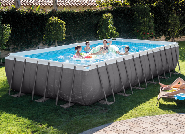 Source Intex Large Inflatable Ultra Metal Steel Frame Swimming Pool Set For Above Ground Swimming Pools Best Above Ground Pool Rectangular Pool In Ground Pools