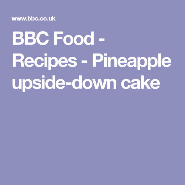 Pineapple Upside-down Cake With Coconut Cream