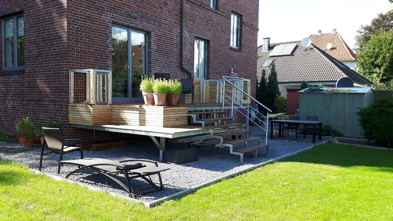 Terasse auf Stelzen   Garten terrasse, Haus und garten ...