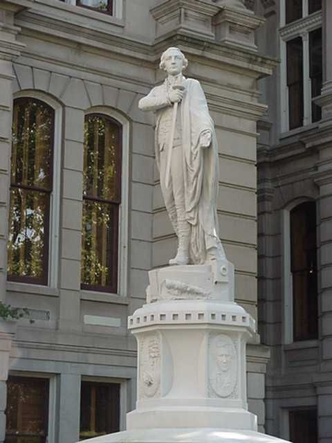 Statue Of Lafayette At The Tippecanoe County Courthouse Lafayette