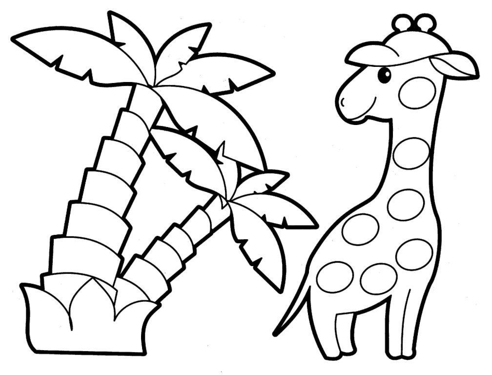 animal coloring pages animals coloring pages for babies 48 - Baby Forest Animals Coloring Pages