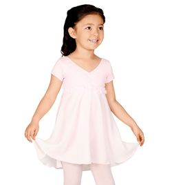 Child Short Sleeve Empire Waist Dance Dress - Style No N8667Cx $22.13  discountdance.com