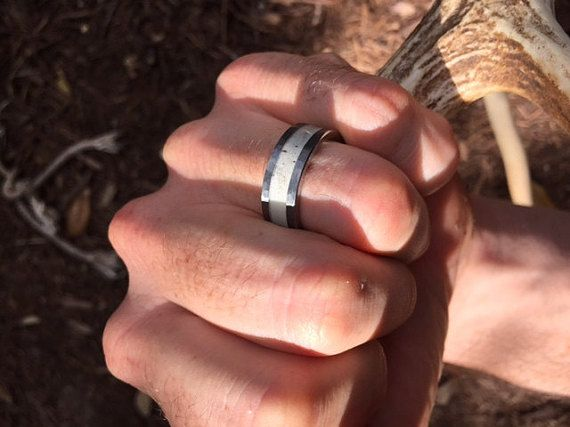 Deer Antler Ring for Men Antler Rings for Weddings by AntlerRings