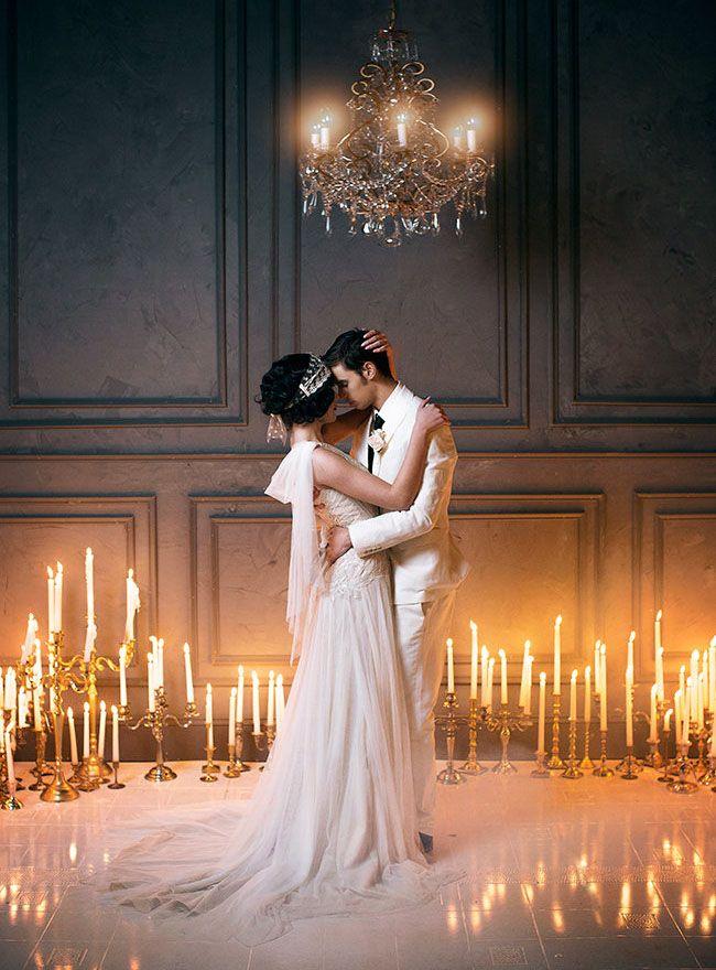 Romantische Hochzeitsinspiration aus dem Great Gatsby   – Lovely Photos