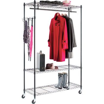 alera wire shelving garment rack costco assembly ready to assemble brand alera color. Black Bedroom Furniture Sets. Home Design Ideas