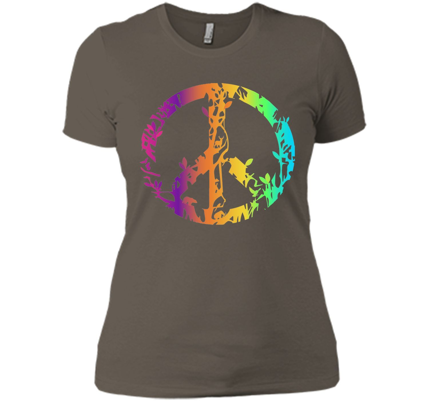 Adorable Colored Nature Animal Peace Sign 2017 T Shirt