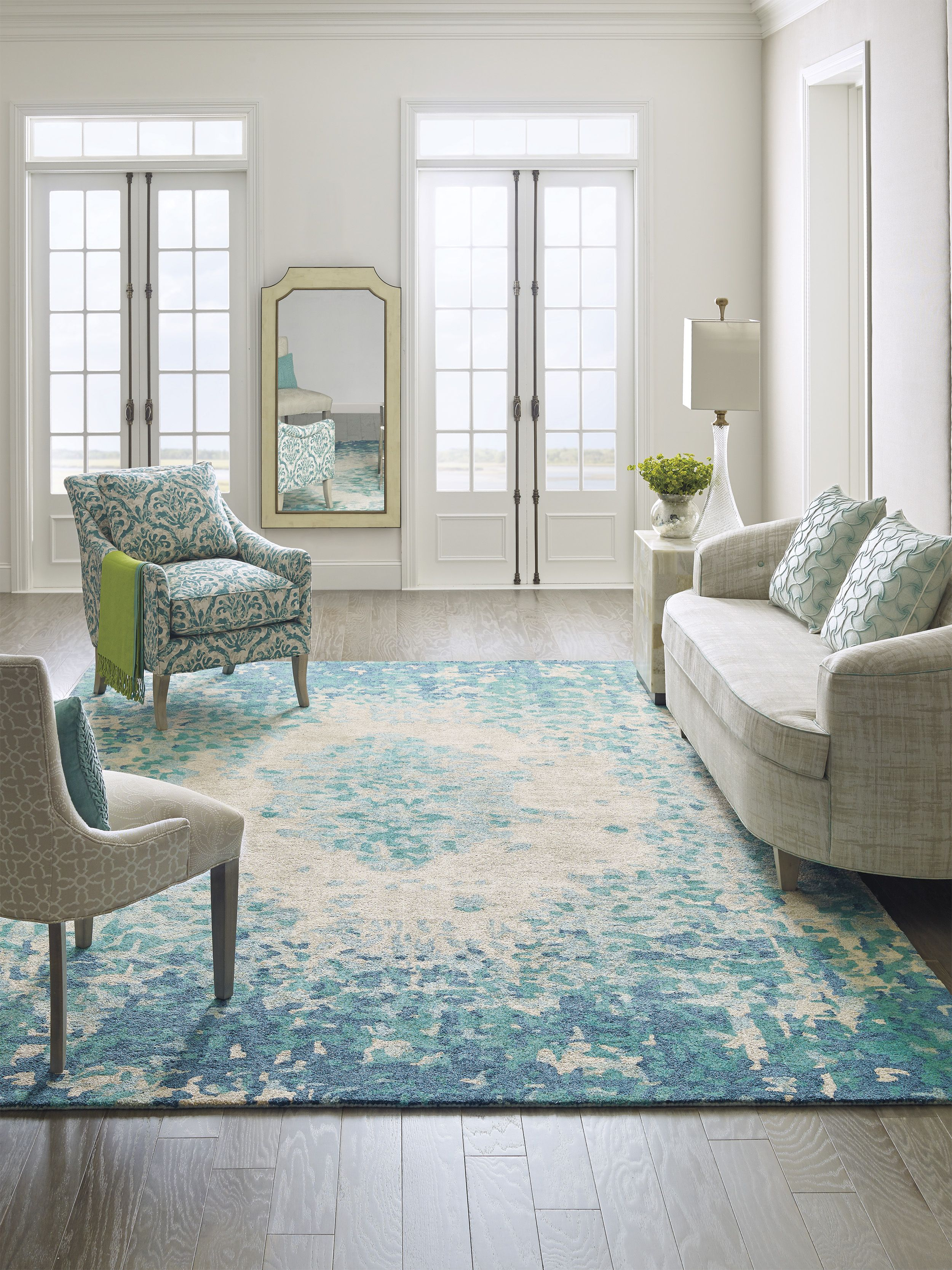 Made Of 100 Hand Spun Viscose This Decorative Looped Rug Is Luxuriously Soft And Perfe Turquoise Living Room Decor Living Room Turquoise Teal Rug Living Room Teal carpet living room