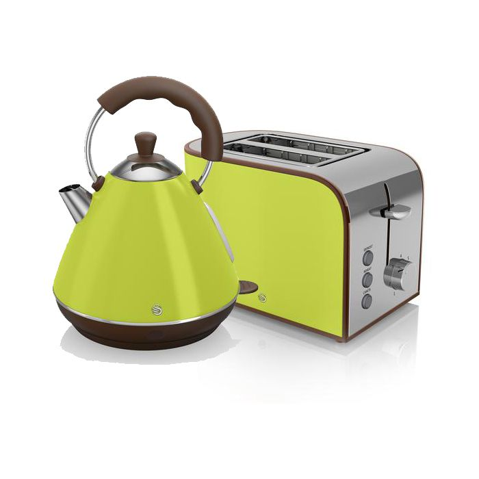 Blue Microwave Kettle And Toaster Set Delonghi Icona Swan Lime Green