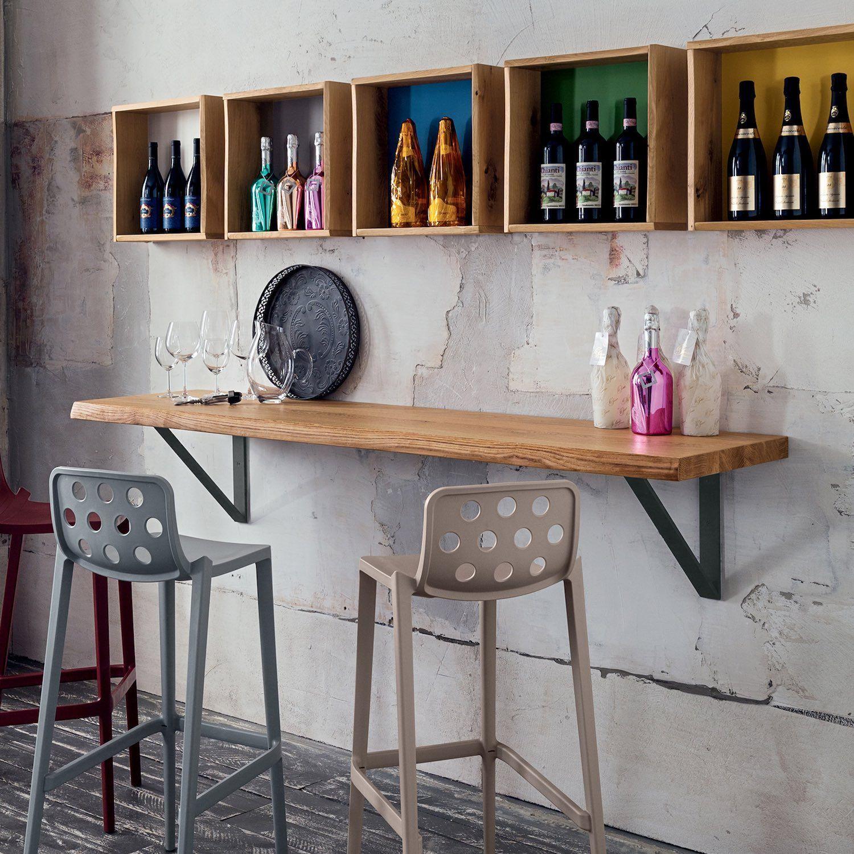 Bancone Bar Per Casa mensola in legno massello da 100 a 250 cm per bar e pub