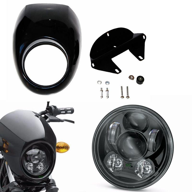 Headlight Fairing Front Cowl Fork Mount For Harley Sportster Dyna Glide FX XL