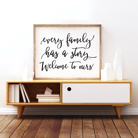 Every family has a story    welcome to ours, home decor, Living Room decor, Family quote, Apartment decor, Printable, family christmas gifts is part of home Renovation Quotes - PrintableSky section id 16287891&ref shopsection leftnav 6 Thanks for visiting!
