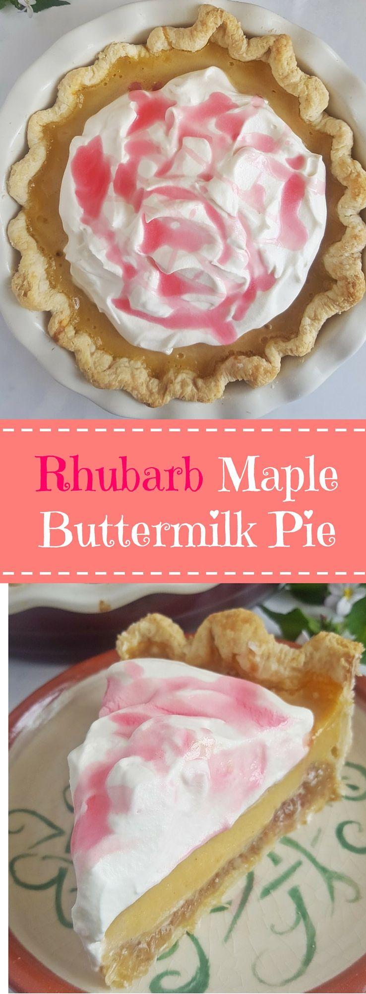 Deutsch Buttermilch Rhabarber Pie Mit Ahornsirup Rhubarb Maple Buttermilk Pie Recipe Easy Cake Recipes Sweet Pie Sweet Recipes
