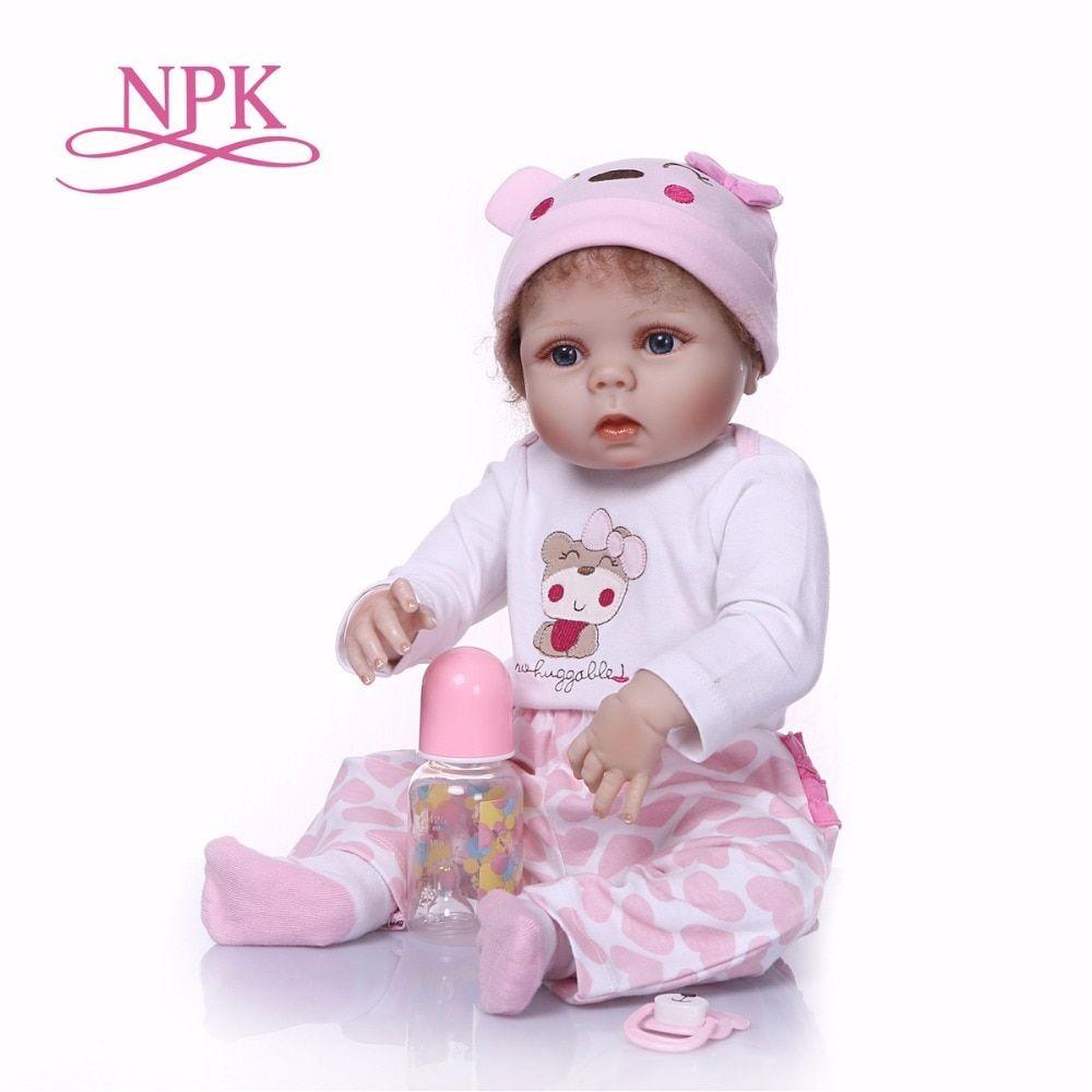 Npk 56 Cm De Cuerpo Completo De Silicona Juguete De Bano Bebe Baby