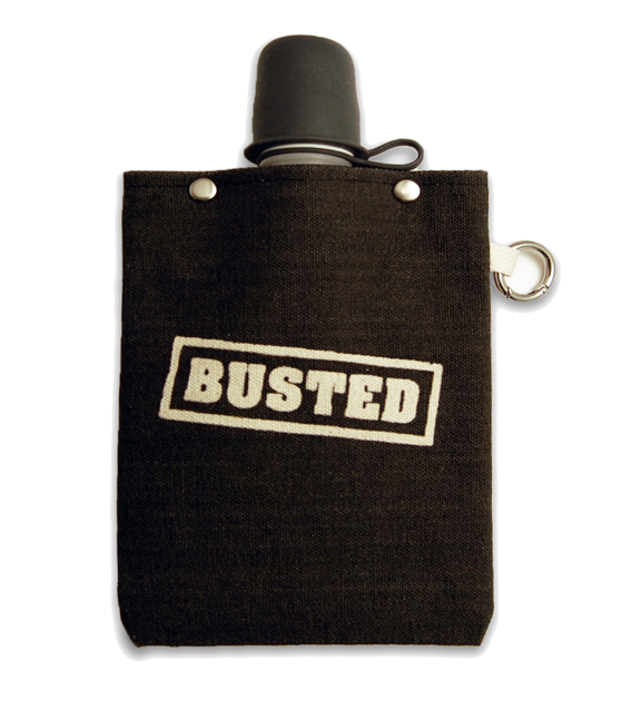 Busted Flask with Stealth Cap, 8-Ounce