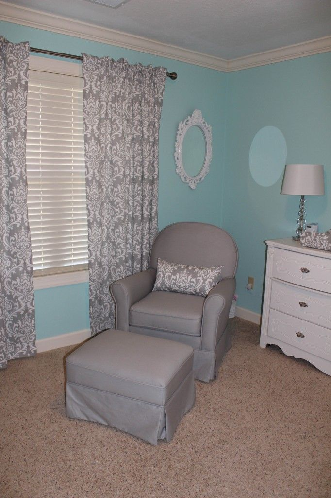 marvelous Tiffany Blue Nursery Ideas Part - 11: Love the grey and aqua....for boy or girl!!!! i like the gray better than  the black and if it is for a girl pops of rasberry would go nicely!