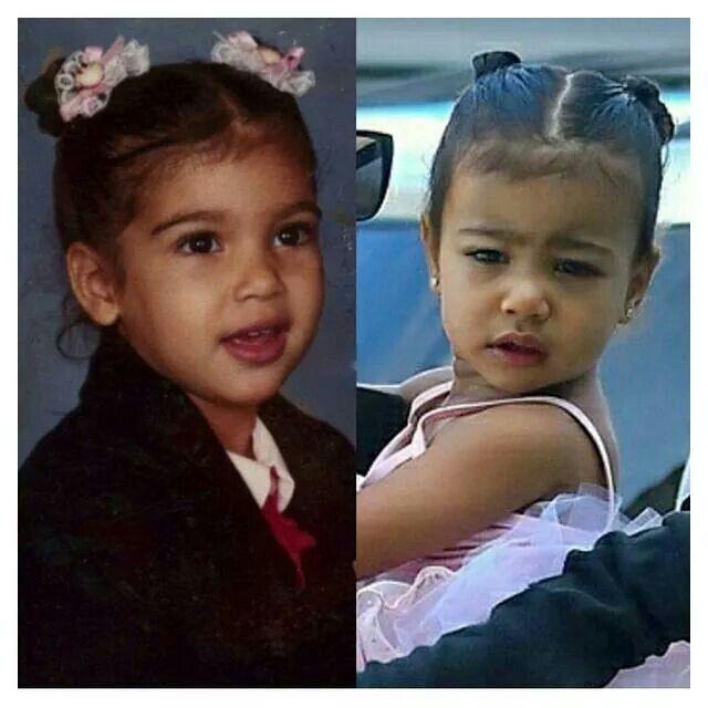 Kim Kardashian West And North West At The Same Age How Cute Kim Kardashian And North Kim Kardashian Celebrity Kids