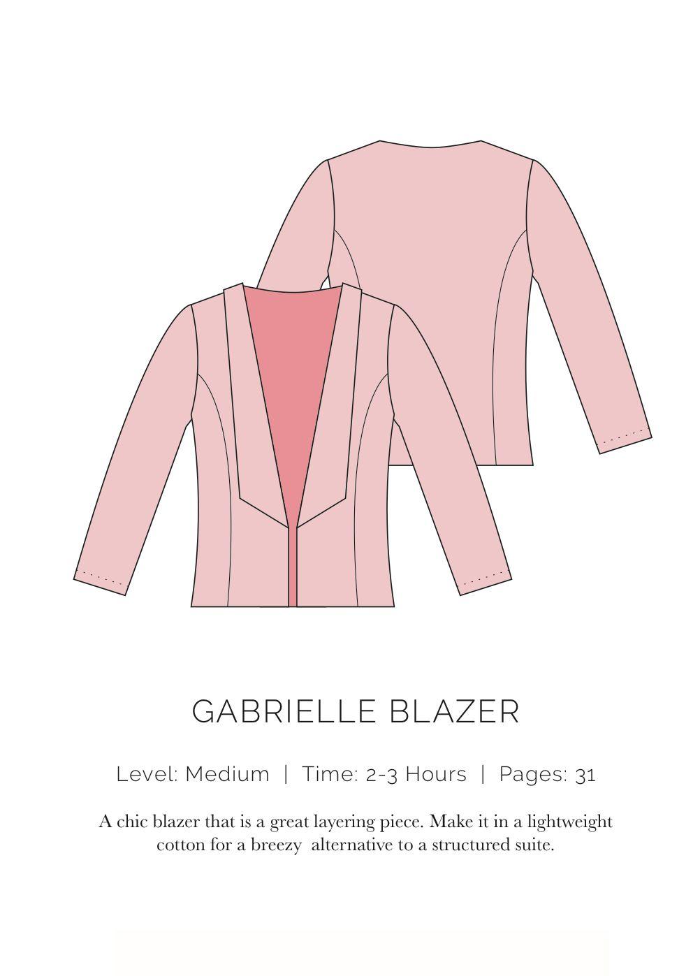 Gabrielle Blazer Patron actuellement gratuit en téléchargement | to ...