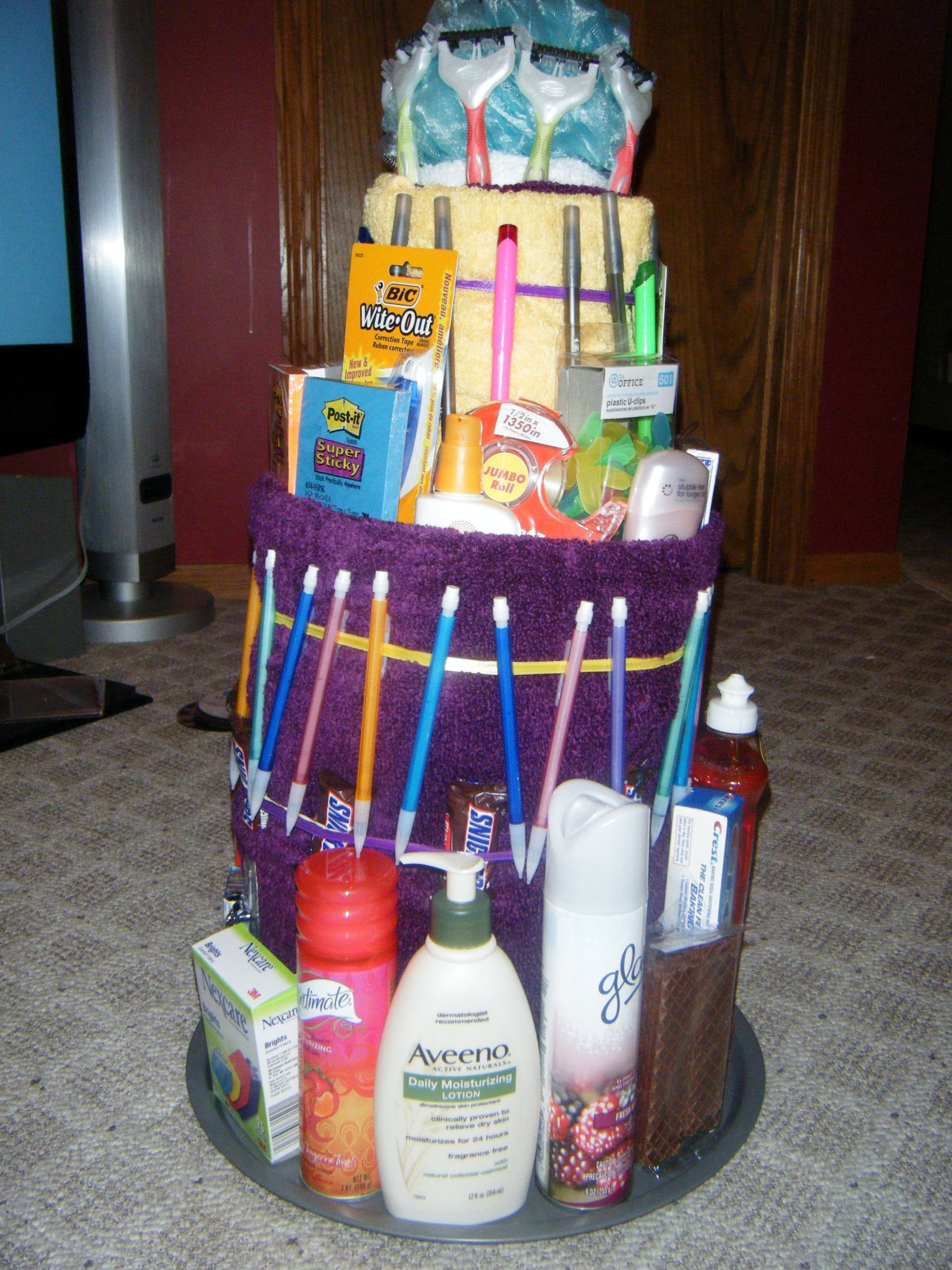 For A College T A Towel Cake