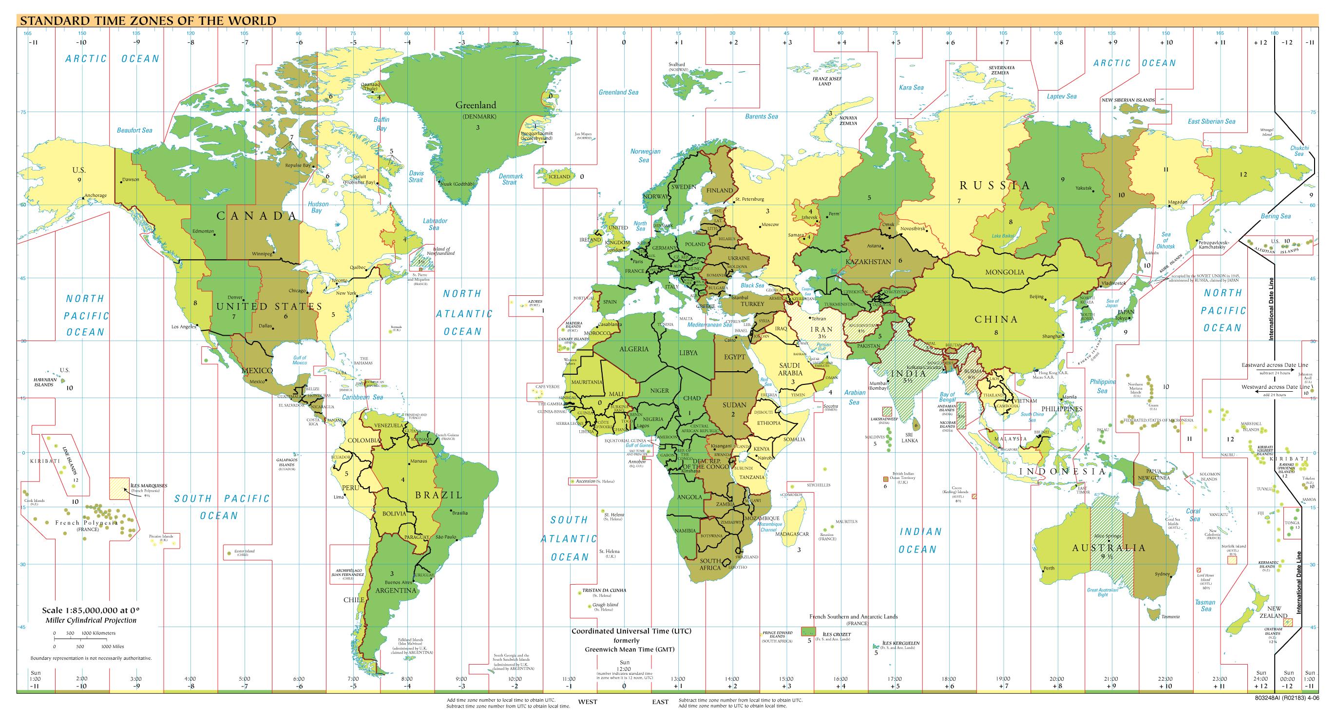 World Time Zones Time Zone Map World Time Zones Map