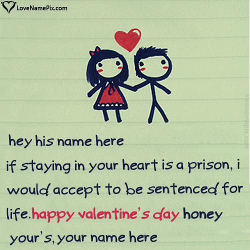 Write your names on unique Valentine Wishes For Boyfriend