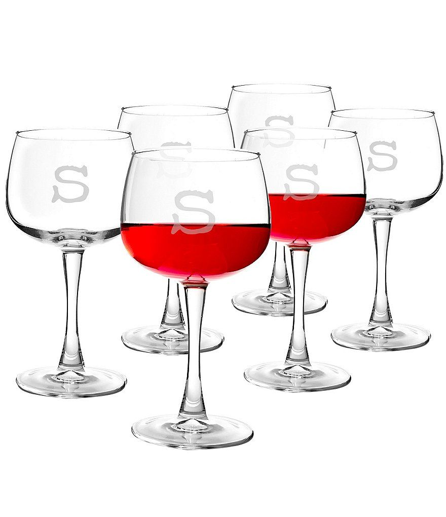 Cathy S Concepts Initial Red Wine Glasses Dillard S Wine Glass Personalized Wine Glass Red Wine Glasses
