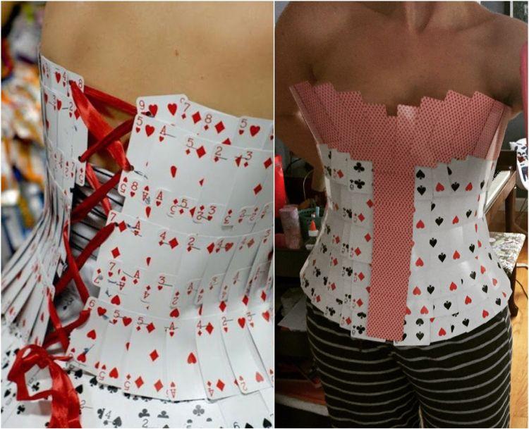 karten kostüm damen selber machen