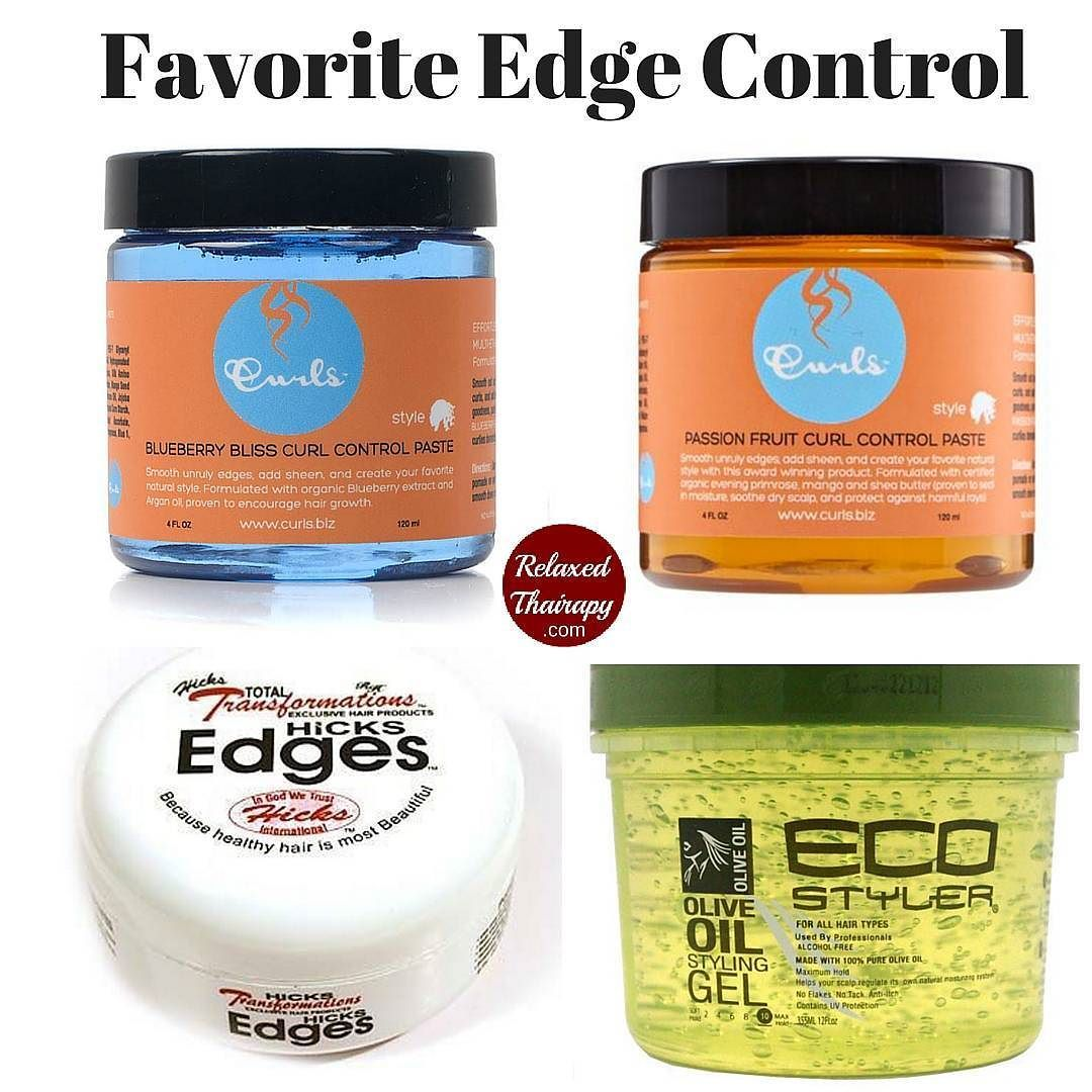 My Favorite Edge Controls Are Frizz Free Curls Control Paste Blueberry Bliss Curly Hair Productsnatural