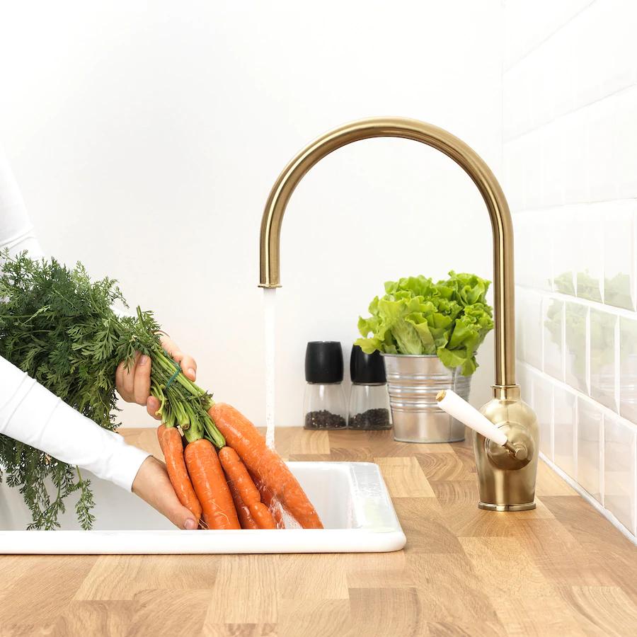 INSJÖN Kitchen faucet, brass color IKEA in 2020