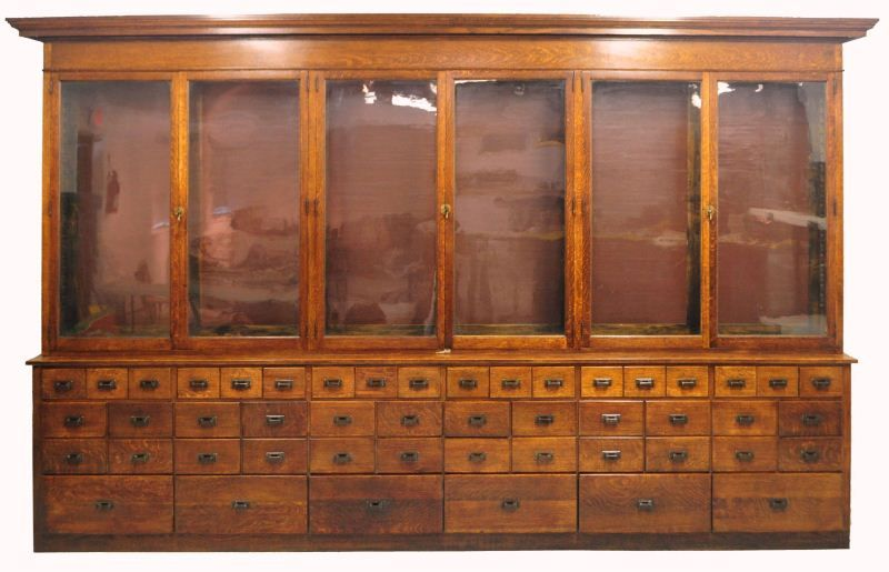 We purchased an antique apothecary cabinet (similar to this one) which used  to belong to the parfumerie at Samaritaine. It is perfect for displaying  all our ... - We Purchased An Antique Apothecary Cabinet (similar To This One