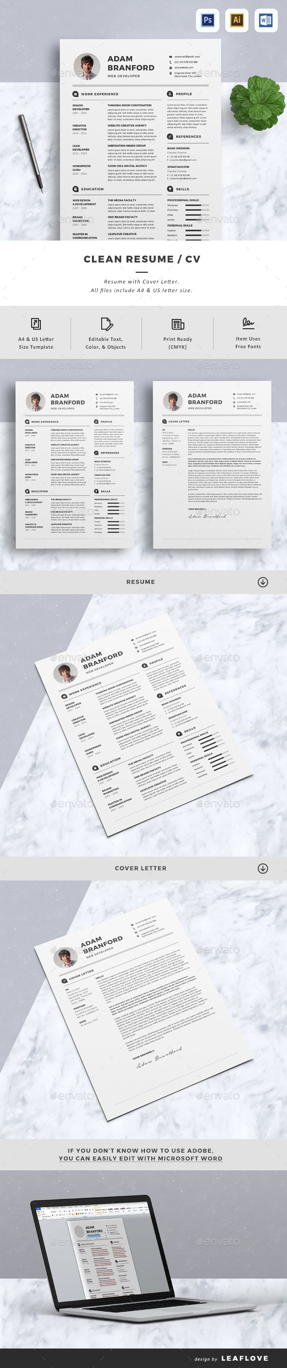 Cv psd templates template and resume cover letters creative resume templates yelopaper Gallery