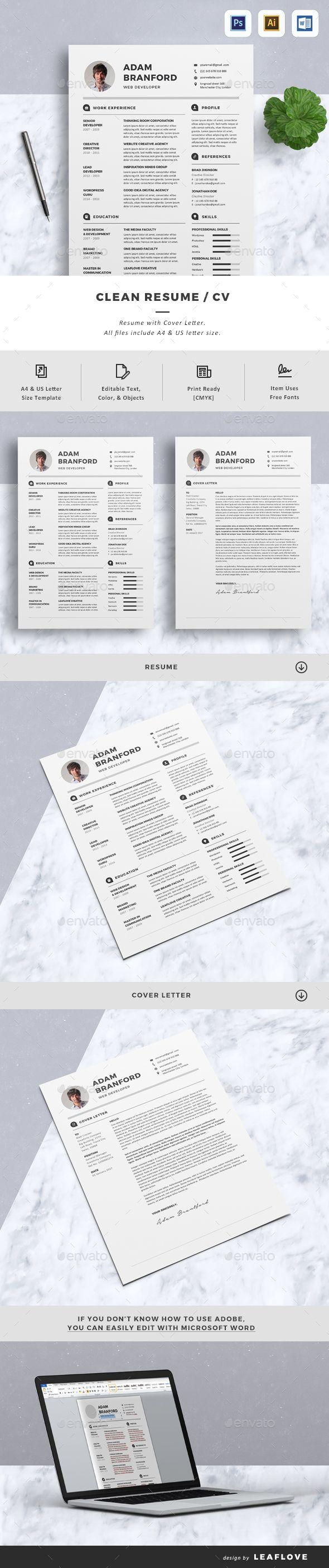 Pin On Killer Resume Template Design