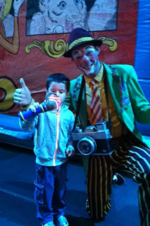kaden and a clown,  went to the circus