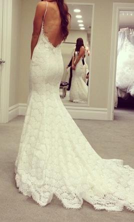 Pnina Tornai 32440257 5 300 Size 10 New Wedding Dresses Backless Wedding Dress Lace Mermaid Wedding Dress Spaghetti Strap Wedding Dress
