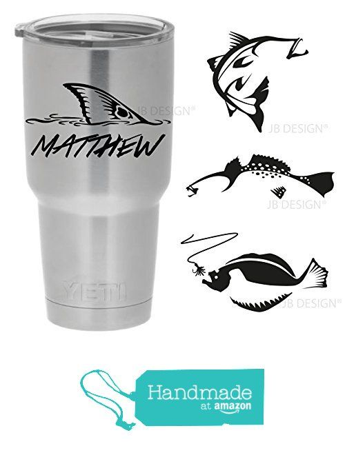 Personalized Vinyl Decal for Yeti Mugs - Redfish, Trout, Flounder and Others from Jessica Bishop Arts https://www.amazon.com/dp/B018OEIUPU/ref=hnd_sw_r_pi_dp_TrHPxbF8WJ15C #handmadeatamazon