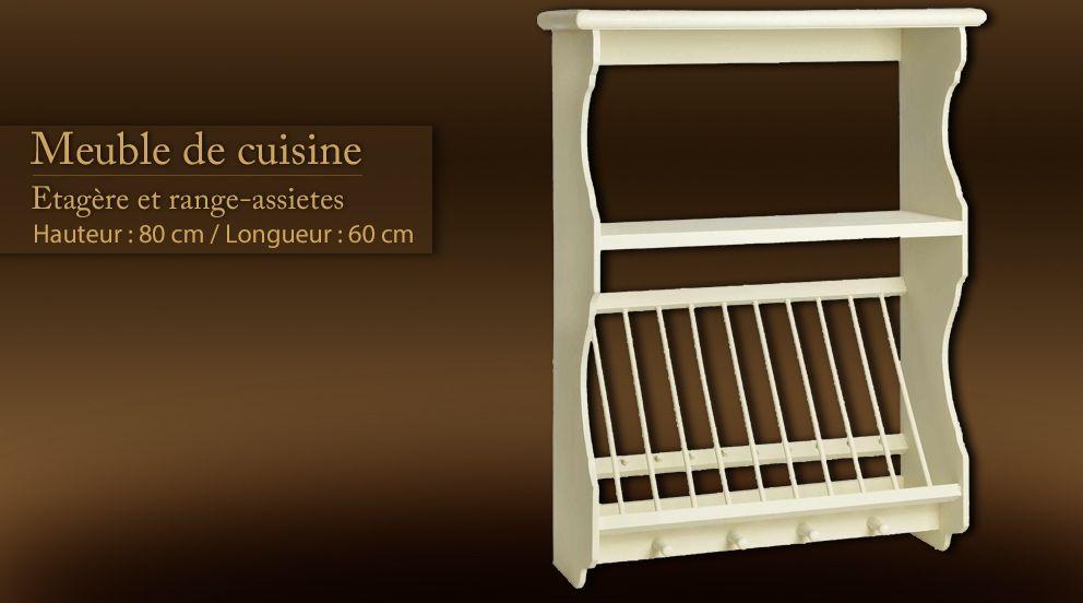 Meuble de cuisine tag re range assiettes petite maison for Meuble porte assiette