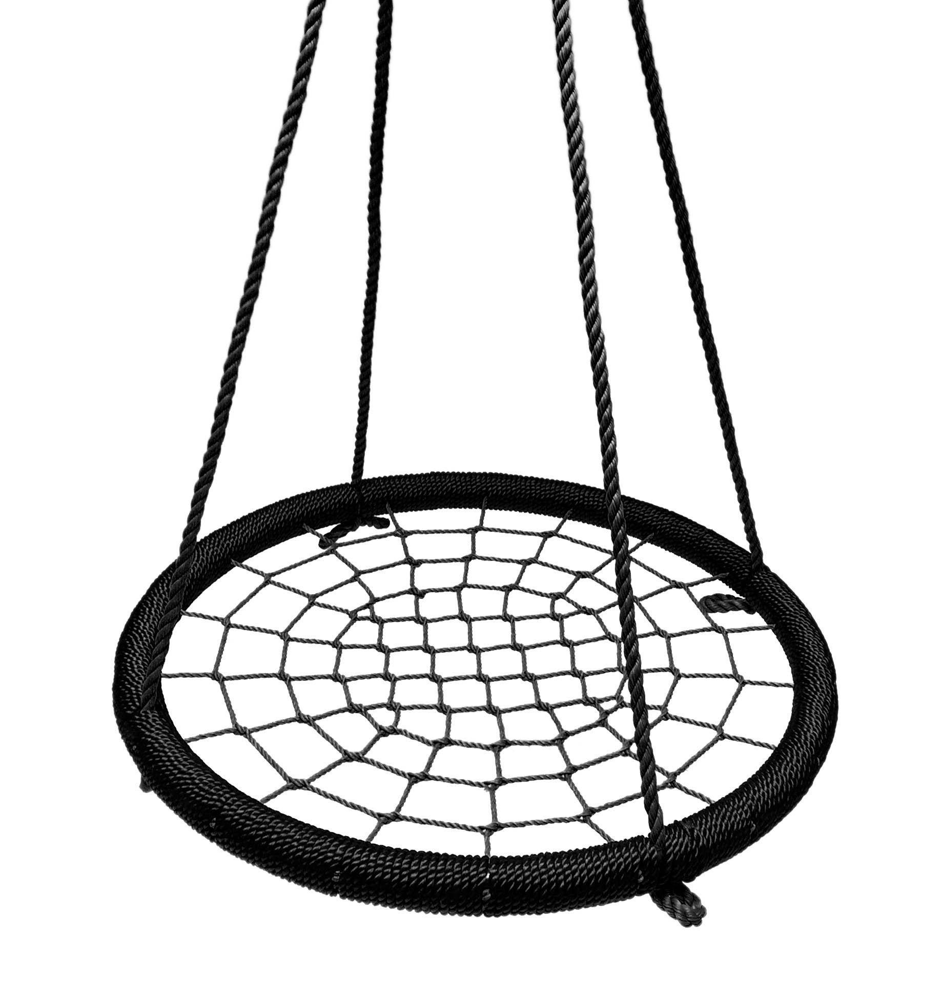 "SkyBound Giant Round 40"" Tree Swing Net - Black (NS-100-BLKBLK)"