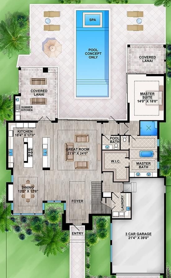 Floor plan DIYHunterMade in 2018 House plans, House, Modern