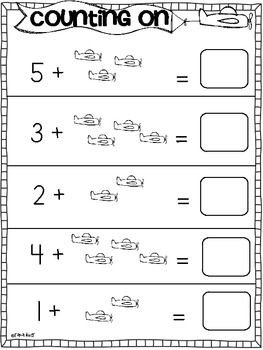 Addition Practice Sheets {Counting On} | Common core math ...