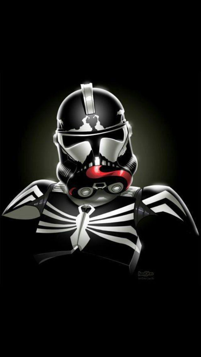 Storm Trooper As Venom Star Wars Trooper Stormtrooper Art