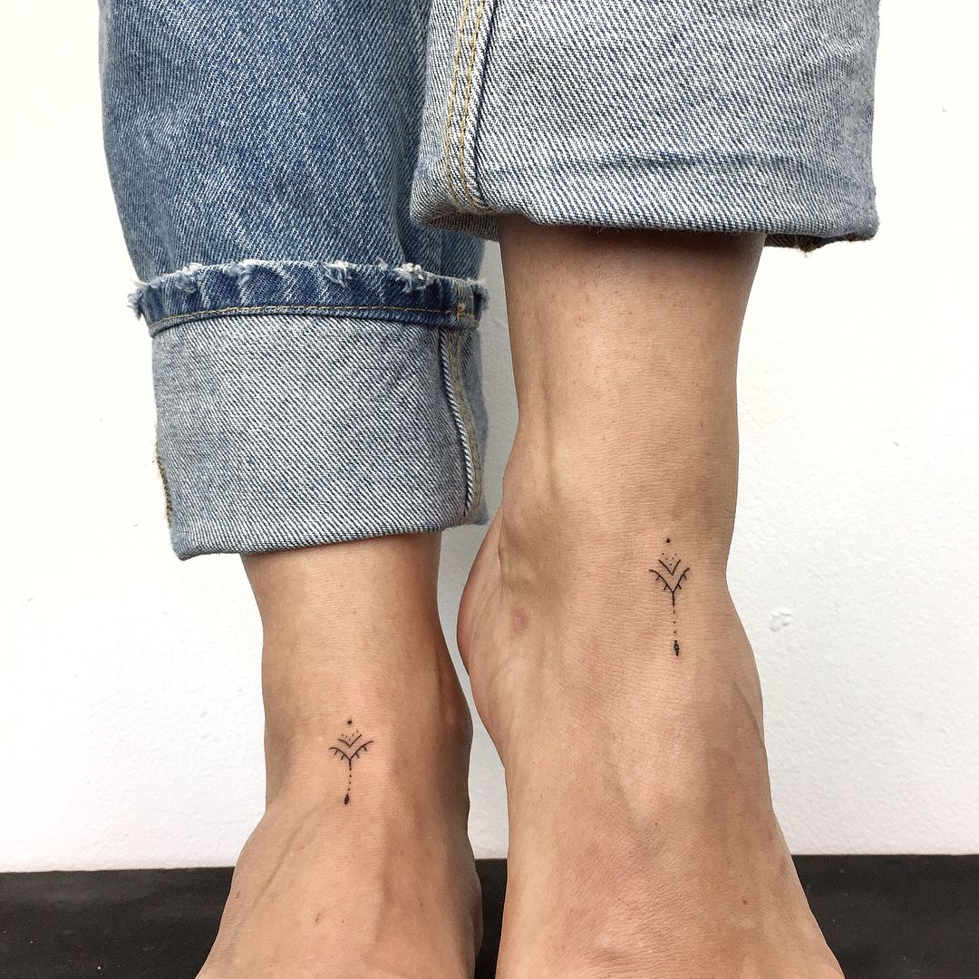 "Photo of TRF ART on Instagram: ""For Jana! Thank's!  #tattoo #tattoos #ink #inked #inkedgirls #girl #minimalism #photography #art #handmade #handpoke #pattern #blackwork…"""