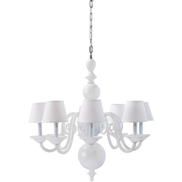 Serena Lily Anya Blown Glass Chandelier 2 595 Via Polyvore Featuring Home Lighting Ceiling Lights Pillar
