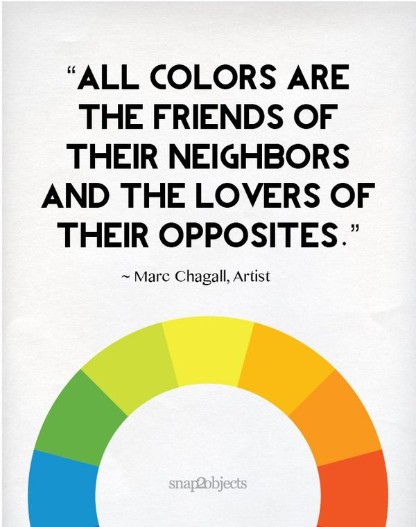 All Colours Are The Firneds Of Their Neighbours And The Lovers Of