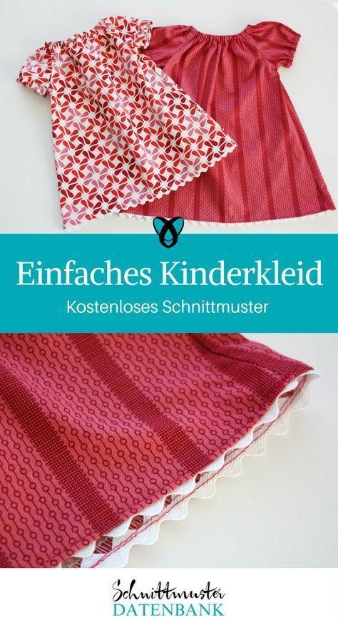 Einfaches Kinderkleid #clothpatterns