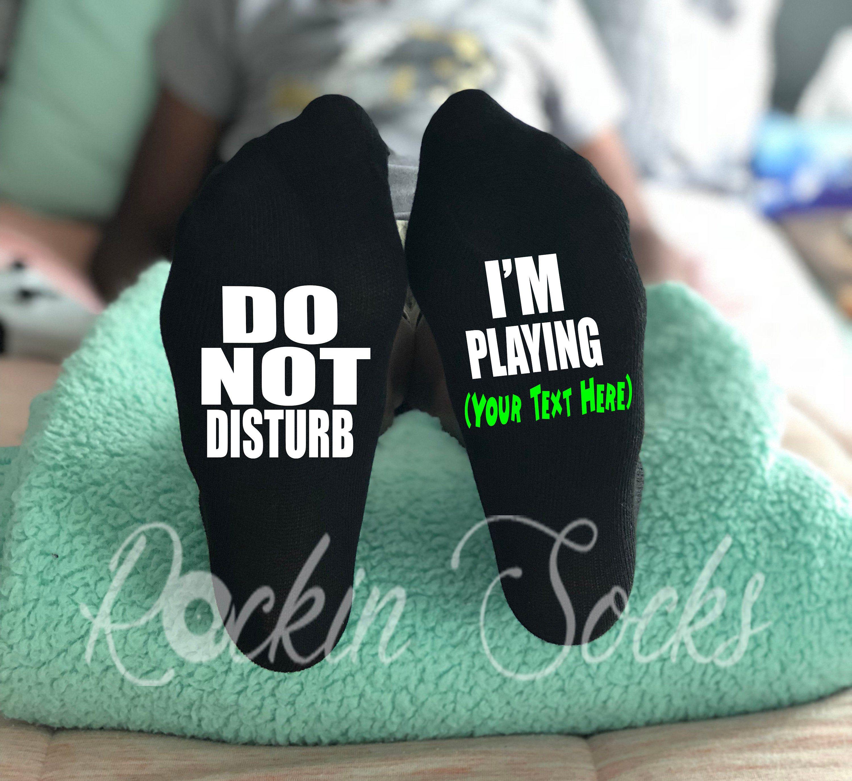 Gifts for boys, Gamer Socks, Custom Video Game Gift, Funny Kids Socks, Do Not Disturb Boy Socks, Gamer Gift, Cyber Monday, Gifts For Son