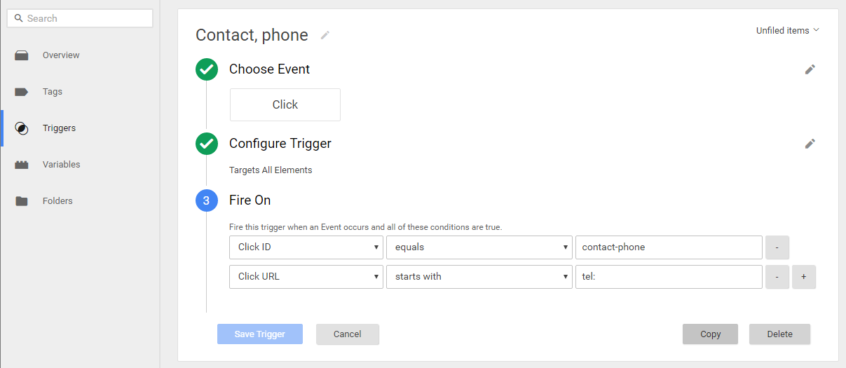 Google Tag Manager (GTM) - Trigger interface with event