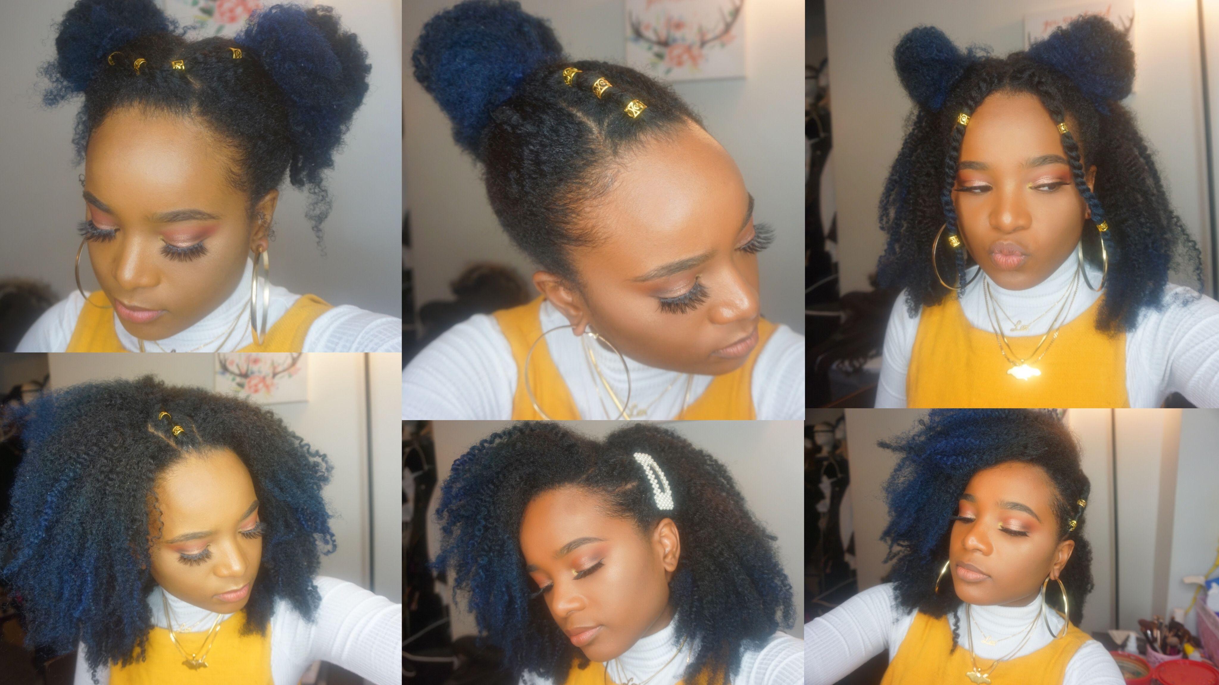 6 Cute Easy Natural Hair Styles Natural Hair Styles Easy Hair Styles Natural Hair Styles