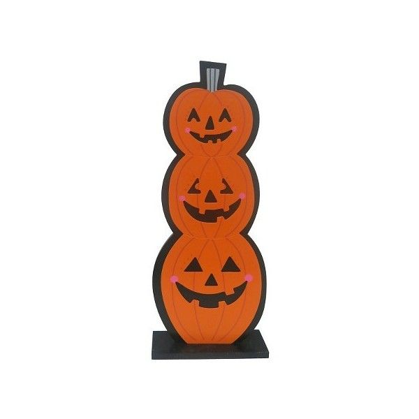 Halloween Triple Pumpkin Stand  Target ❤ liked on Polyvore