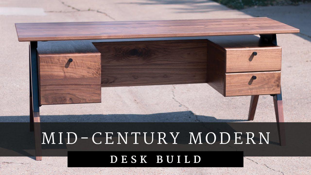Build Video Mid Century Modern Desk Https Youtu Be 2ns2uwyurbe Mid Century Modern Desk Modern Desk Mid Century Desk