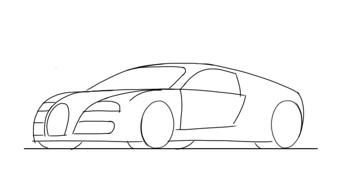 Jcdcardrawingforkidsmadeveryeasyhowtodrawlemansrace - Cool cars easy to draw